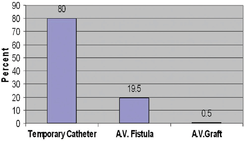 Figure 4: First vascular access